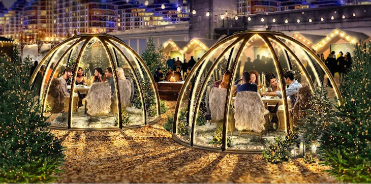Dome dining at Battersea